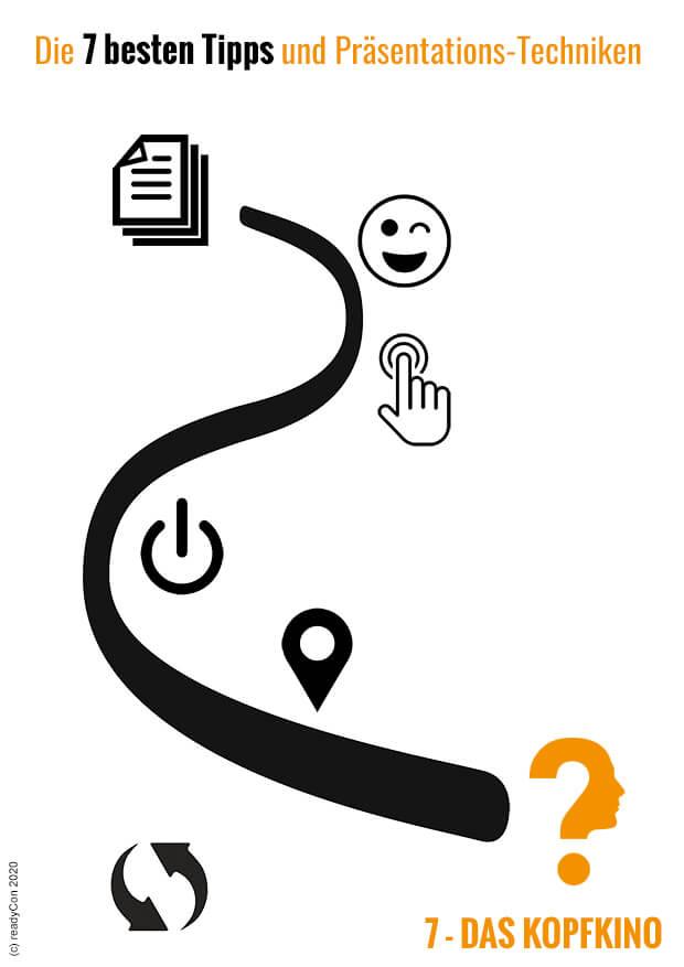 Infografik - Die 7 besten Tipps und Präsentations-Techniken - Tipp 7 - Das Kopfkino