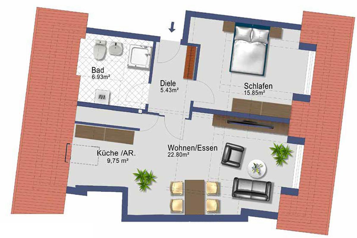 Kaufbeuren Neugablonz - Gablonzer Ring 44 - Wohnung 30 - DG