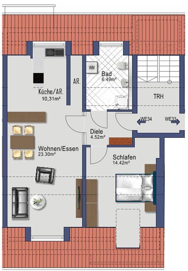 Kaufbeuren Neugablonz - Gablonzer Ring 44 - Wohnung 34 - DG