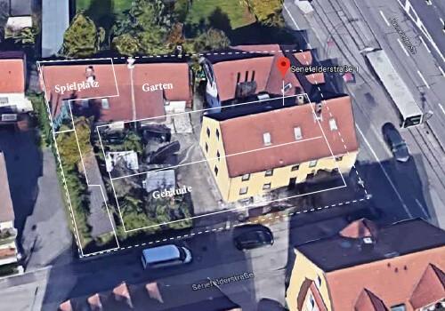 Wohnimmobilie - Augsburg-Haunstetten - Senefelder Str. 1 und 1a . - Luftaufnahme